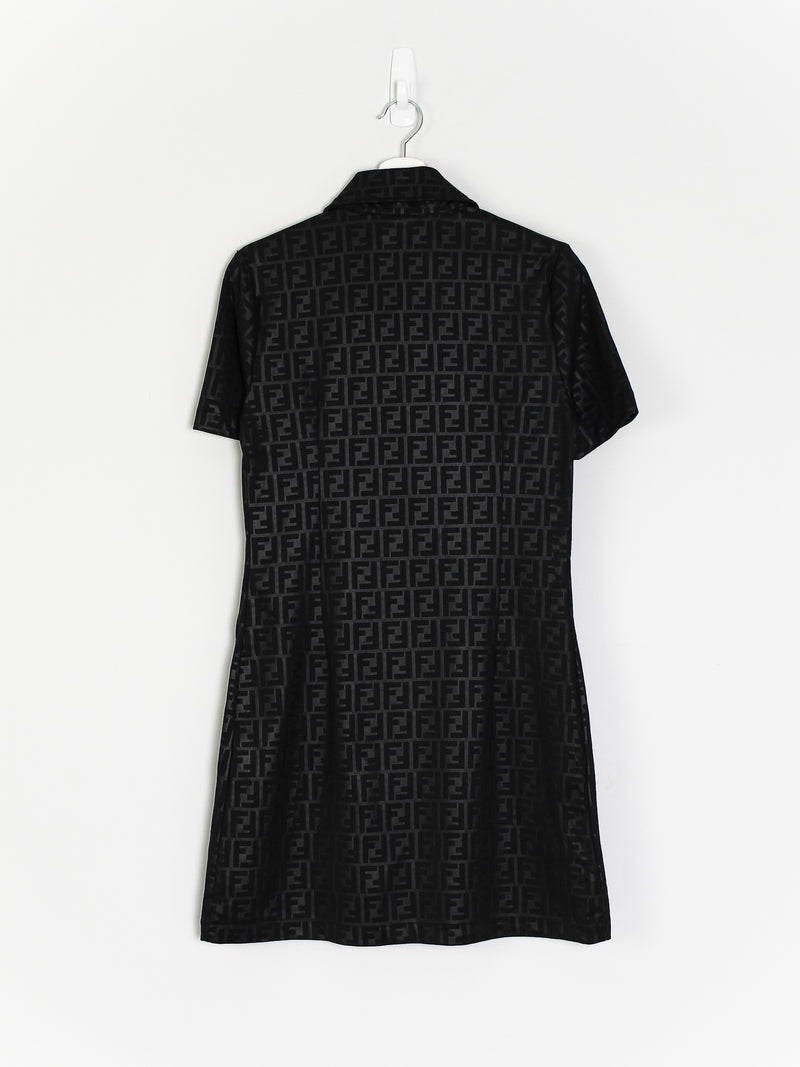 Womens Fendi Zucca Monogram Dress (S)