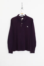 Burberry Longsleeve Polo Shirt (L)