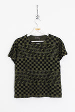 Womens Fendi Monogram Tee (L)
