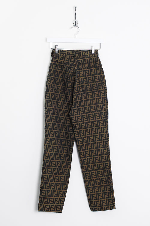 Womens Fendi Monogram Trousers (XS)