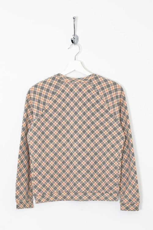 Womens Burberry Nova Check Sweatshirt (M)