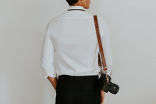 Load image into Gallery viewer, MOON Vintage Brown Leather Shoulder Camera Strap for DSLR
