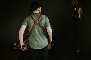 MOON Dual Camera Harness Brown