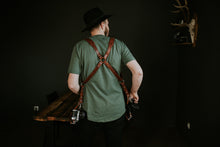 Load image into Gallery viewer, MOON Dual Camera Harness Brown with Shoulder pads
