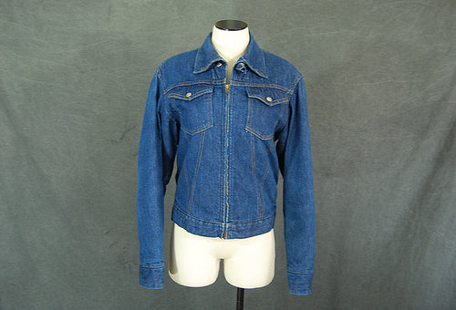 vintage 60s Jean Jacket - 1960s Blanket Lined Denim Chore Coat Montgomery Ward Dark Denim Work Jacket Sz S M 38