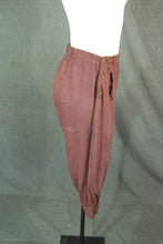 vintage 20s Knickers - 1920s Womens Brown Twill Cropped Riding Pants Newsboy Pants Sz S