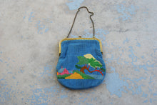 antique Victorian Needlepoint Purse - Early 1900s Tapestry Bag Hand Embroidered Purse Handbag