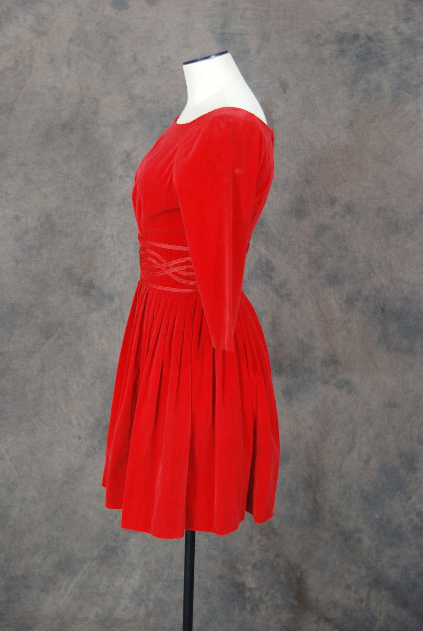 f67c966f928 vintage 50s Dress - 1950s Red Velvet Party Dress Sz XS – Jessamity ...
