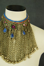 antique Kuchi necklace - Tribal Bedouin Choker Necklace Bib Necklace Belly Dance Statement Necklace