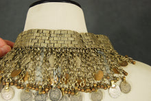 antique Kuchi Choker - Tribal Bedouin Bib Necklace Belly Dance Choker Statement Necklace