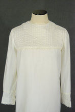 vintage 60s Mini Dress - 1960s Pintuck White Gogo Dress Sz S