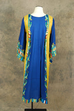 vintage 70s India Cotton Caftan - Bell Sleeve Maxi Dress -1970s Boho Ethnic Hippie Angel Sleeve Festival Dress Sz S M L