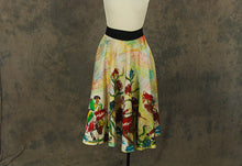 vintage 50s Mexican Circle Skirt - 1950s Hand Painted Sequin Wrap Skirt Matador Bullfighting Novelty Print Skirt Sz S M L