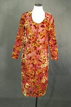 vintage 90s Burn Out Velvet Dress - Beaded Velvet Tunic Top Dress Sz S