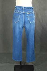 vintage 80s Lee Jeans - 1980s High Waist Mom Jeans Broken in Cropped Straight Leg Jeans Sz 29 Short