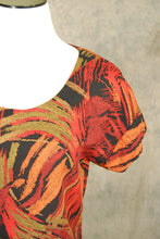 vintage 80s Blouse - 1980s Abstract Brushstroke Print TShirt Sz S M