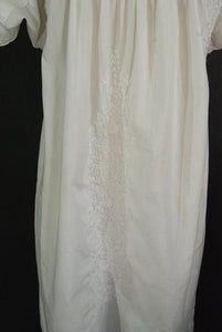 vintage 70s Mexican Peasant Dress - Boho Crochet and Embroidered Cutwork Tent Dress Sz S M L