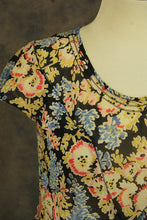 vintage 20s Flapper Dress - 1920s Sheer Floral Dress Cotton Voile Drop Waist Dress Sz S