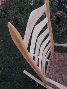 Curly, Birdseye and Hard Maple and Hickory Bark rocker