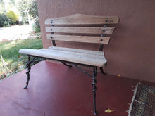 Load image into Gallery viewer, Purple Heart and Wrought Iron garden/house bench AVAILABLE BY CUSTOM ORDER