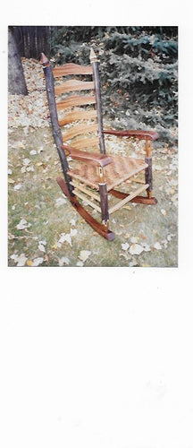 Number 100!! Russian Olive, Zebra, Black Walnut and Red Oak rustic rocking chair. AVAILABLE  BY CUSTOM ORDER