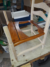 Load image into Gallery viewer, Curly, Birdseye and Hard Maple and Hickory Bark rocker
