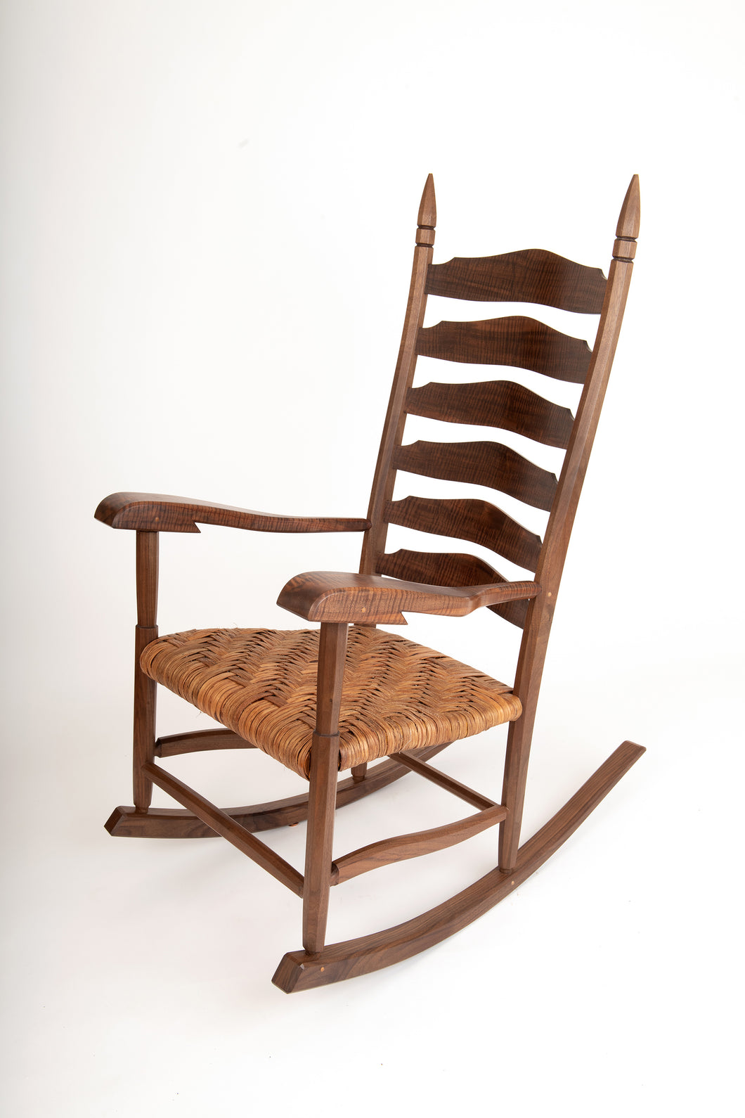Black and Claro Walnut rocking chair