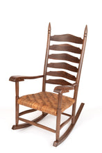 Load image into Gallery viewer, Black and Claro Walnut rocking chair