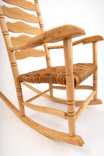 Load image into Gallery viewer, Quartersawn Sycamore, Birdseye Maple and Hard Maple rocking chair