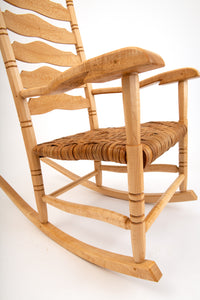 Quartersawn Sycamore, Birdseye Maple and Hard Maple rocking chair