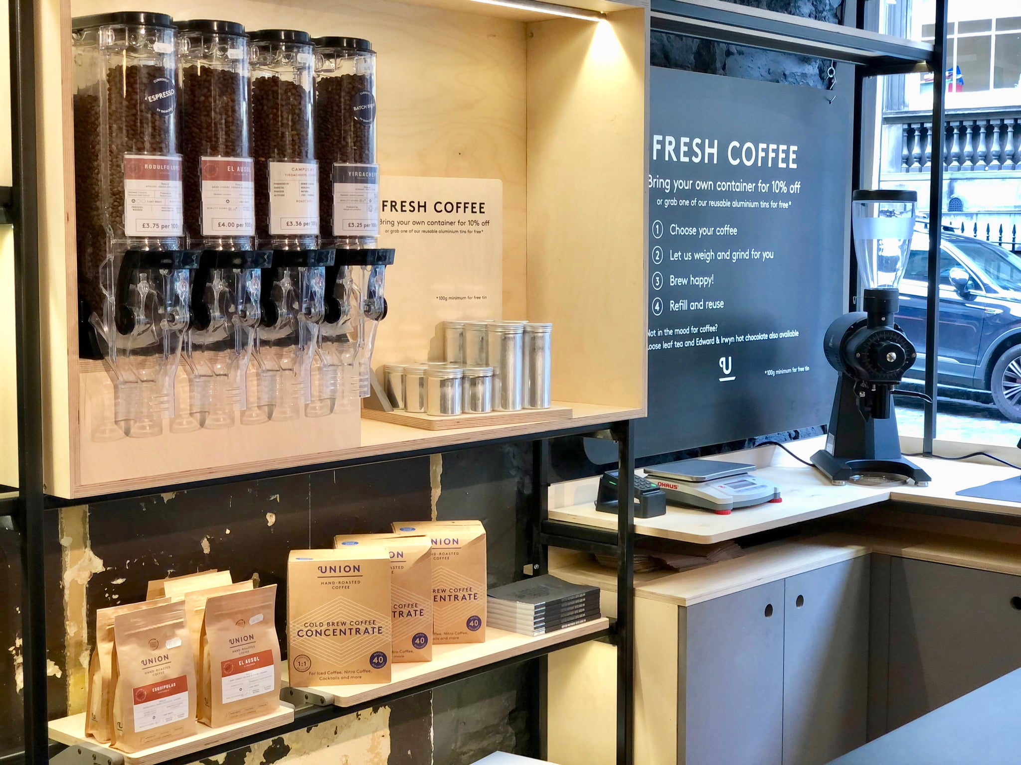 union brew lab the store fresh coffee reusable