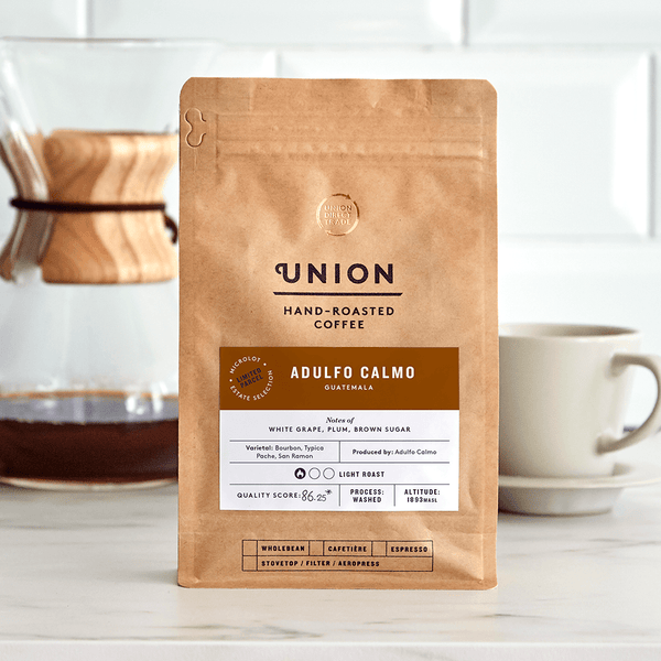 Image: Adulfo Calmo, Coffee Bag, Union Coffee
