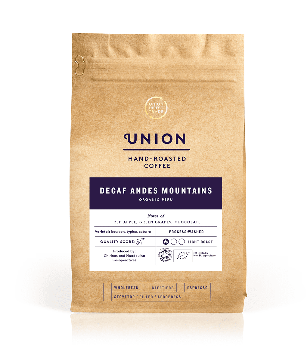 Decaf Andes Mountains, Roast To Order Bag, Union Coffee