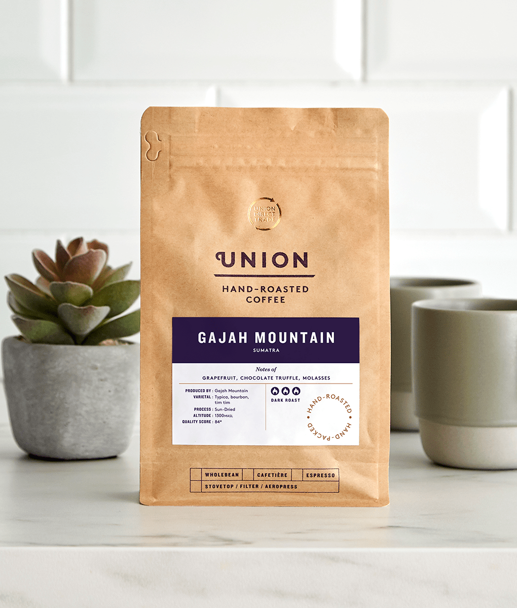 Gajah Mountain, Sumatra, Union Coffee Bag