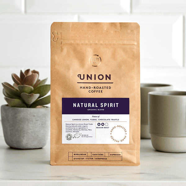 Image: Natural Spirit, Organic Blend, Union Coffee Bag