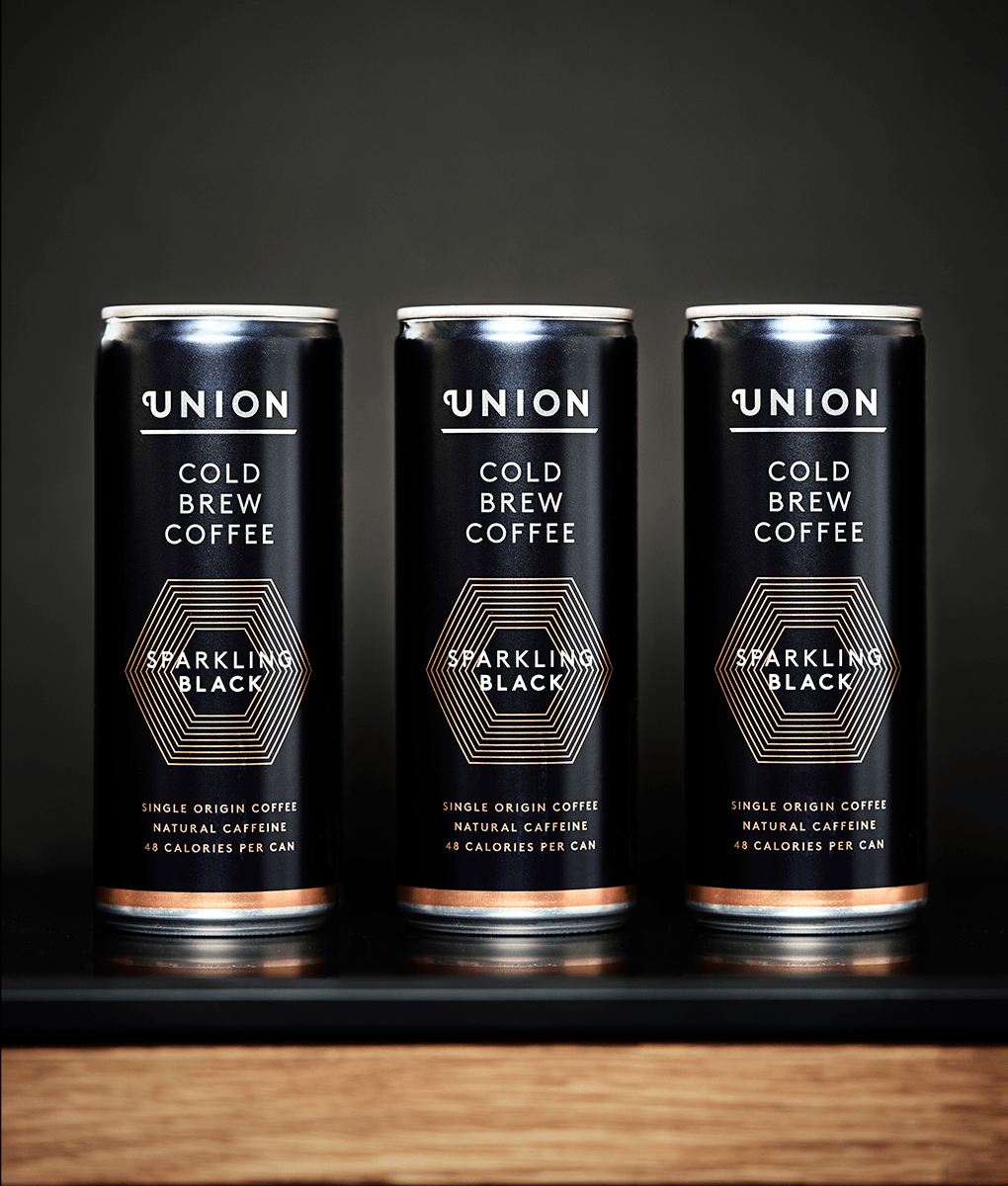 Cold Brew Cans, Sparkling Black, Union Coffee