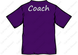 Style #4 Ladies Fit V-Neck T-Shirt (Purple Or Black)