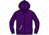 Style #11 Youth Unisex Zip Up Hoodie (Purple Or Black)