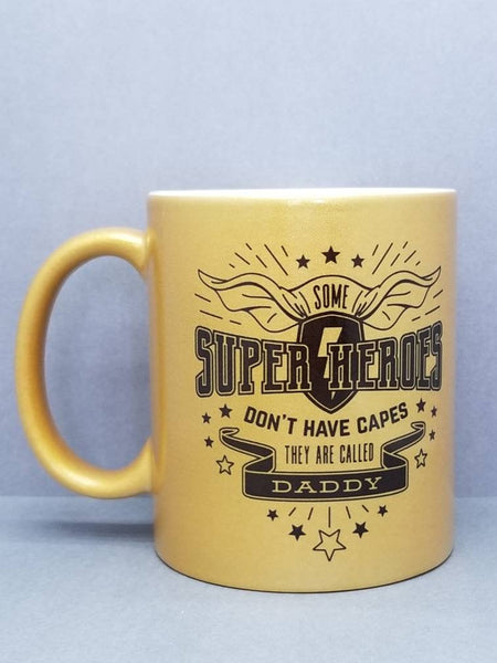 Daddy Super Hero Guild Metallic Sublimated Mug. 11 oz. 2 sided. Dad Mug. Father's  Day Mug. Gift For Dad. Father's Day Gift.  Funny Dad Gift