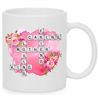 Mother Word Tile Mug. 11 oz. 2 sided. Mom Mug. Mother's Day Mug. Gift For Mom. Mother's Day Gift. Mom Hustle Mom. Mother Adjective Words
