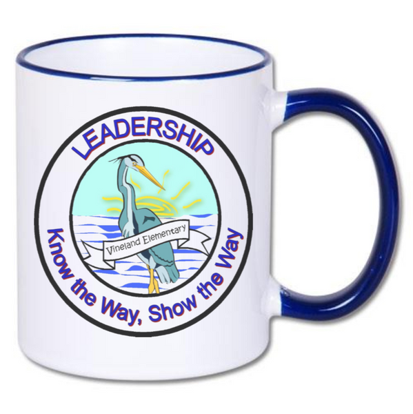 Vineland Logo Coffee Mug With Blue Accents