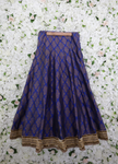 Blue and gold a line shaped lehenga with golden trim