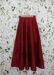 Scarlet red pleated lehenga