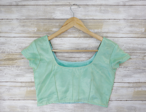back Sea green cap sleeved blouse