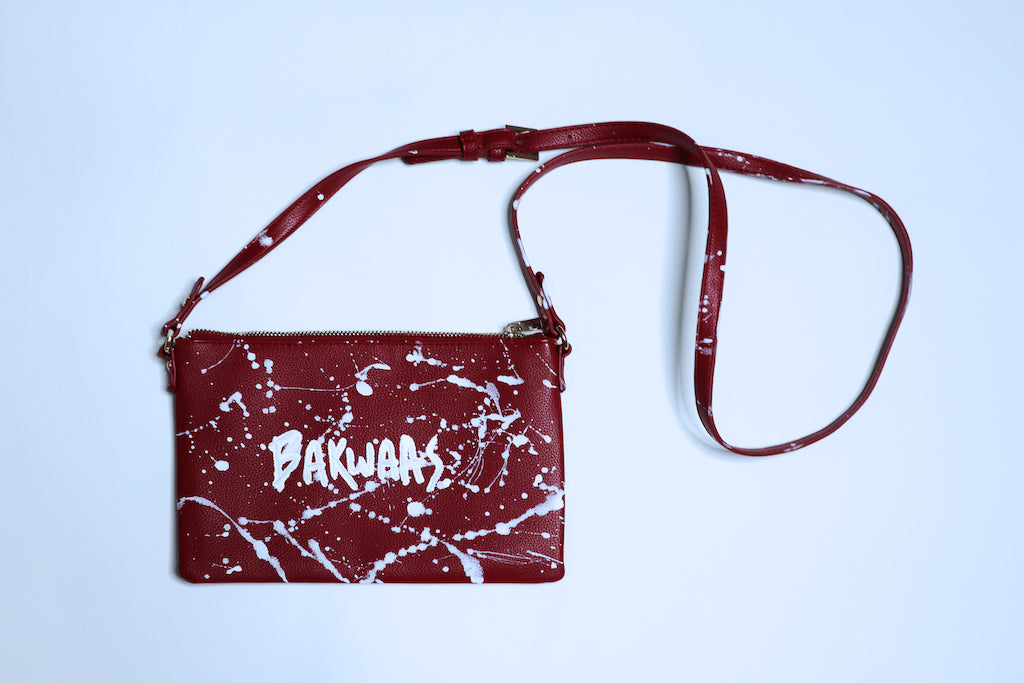 Babbu x Rani Maroon Splatter Cross body