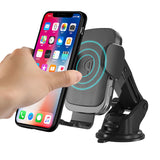 Wireless Car Charger,10W Qi Fast Charging Auto-Clamping Car Mount,Windshield Dashboard Air Vent Phone Holder