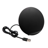 Sport Stereo Fast Charging Wireless Charger Pad Qi Standard Wireless Charger Stand - Black