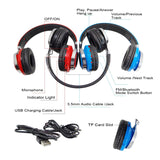 High Quality Sports Handsfree with Mic Over Ear Wireless BT Headphone