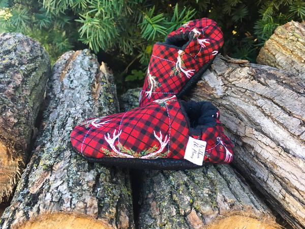 Plaid Antler Moccasins