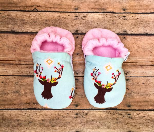Floral Buck Moccasins